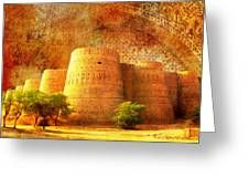 Derawar Fort Greeting Card by Catf