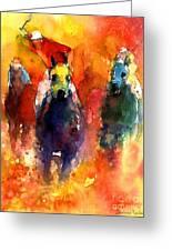 Derby Horse Race Racing Greeting Card by Svetlana Novikova
