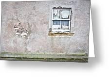 Derelict Window Greeting Card by Tom Gowanlock