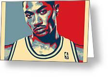 Derrick Rose Greeting Card by Taylan Soyturk