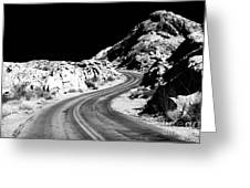 Desert Curves Greeting Card by John Rizzuto