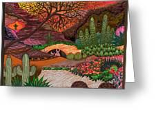 Desert Evening Greeting Card by Vivian Rayford