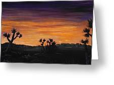 Desert Night Greeting Card by Anastasiya Malakhova