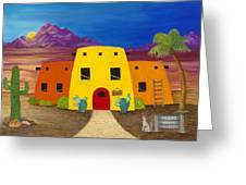 Desert Oasis Greeting Card by Carol Sabo