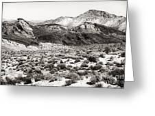 Desert Peaks Greeting Card by John Rizzuto