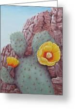 Desert Rose Greeting Card by Roseann Gilmore
