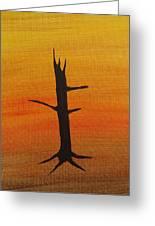 Desert Sentinal Greeting Card by Keith Nichols