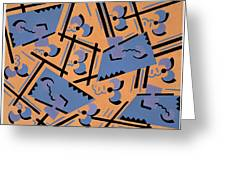 Design From Nouvelles Compositions Decoratives Greeting Card by Serge Gladky