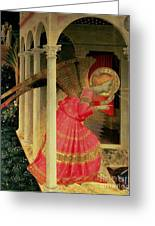 Detail From The Annunciation Showing The Angel Gabriel Greeting Card by Fra Angelico