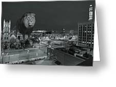 Detroit Lions Greeting Card by Nicholas  Grunas