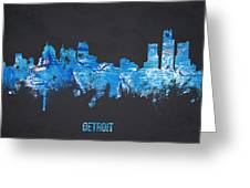 Detroit Michigan Usa Greeting Card by Aged Pixel