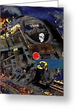 Devil's Train Greeting Card by Pennie  McCracken