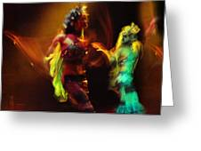 Diabolic. Passionate Dance of the Night Angels Greeting Card by Jenny Rainbow