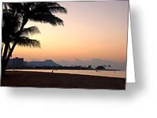 Diamond Head Sunrise - Honolulu Hawaii Greeting Card by Brian Harig