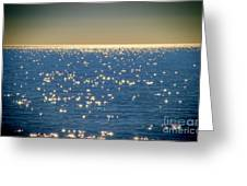 Diamonds On The Ocean Greeting Card by Mariola Bitner