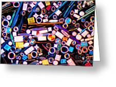 Diatom Arrangement Greeting Card by Kent Wood