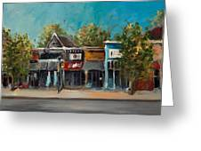 Dickson Street Greeting Card by Cari Humphry