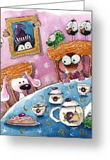Did You Invite The Witch To Tea Greeting Card by Lucia Stewart
