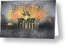 Digital-art Brandenburg Gate I Greeting Card by Melanie Viola