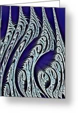 Digital Carvings Greeting Card by Anastasiya Malakhova