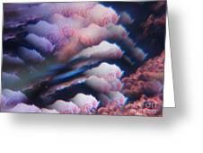 Digital Fantasy Storm Abstract Greeting Card by Sheri Dean