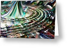 Digital Liquid Greeting Card by Cheryl Young