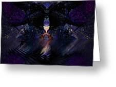 Digital Ninja Greeting Card by Jason Saunders