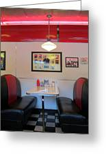 Diner Booth Greeting Card by Randall Weidner