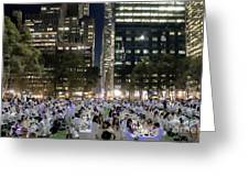 Diner En Blanc New York 2013 Greeting Card by Lilliana Mendez