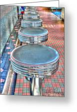 Diner Stools Greeting Card by Kathleen Struckle