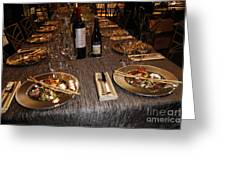 Dinner Is Served Greeting Card by Nina Prommer