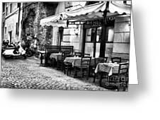 Dinner Scene In Rome Greeting Card by John Rizzuto