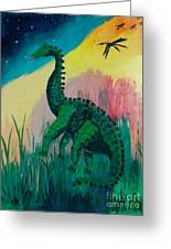 Dinosaur Greeting Card by PainterArtist FIN