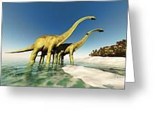 Dinosaur World Greeting Card by Corey Ford