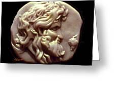 Dionysus Greeting Card by Patricia Howitt