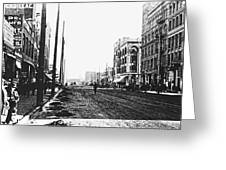 Downtown Dirt Spokane C. 1895 Greeting Card by Daniel Hagerman