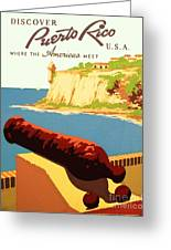 Discover Puerto Rico Greeting Card by Pg Reproductions