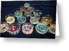 Dishes Greeting Card by Glass Dabber