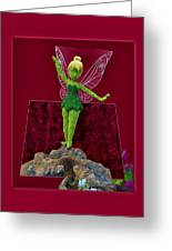 Disney Floral Tinker Bell 01 Greeting Card by Thomas Woolworth