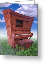 Distorted Upright Piano Greeting Card by Mike McGlothlen