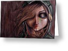 Disturbance Of The Pain-sensitive Structures In My Head Greeting Card by Rouble Rust