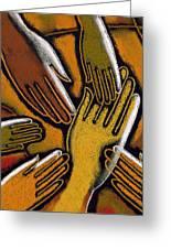 Diversity Greeting Card by Leon Zernitsky