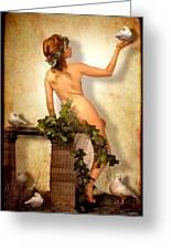 Divine Nymph Greeting Card by Yvon van der Wijk