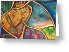 Divine Wisdom Greeting Card by Shiloh Sophia McCloud
