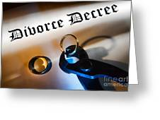Divorce Decree Greeting Card by Olivier Le Queinec