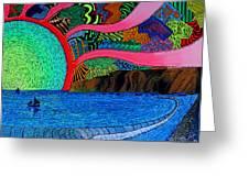 Dizzy Dana Point Greeting Card by Sam Bernal