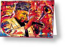 Dizzy Gillespie Greeting Card by Everett Spruill