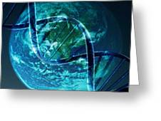 Dna Globe Greeting Card by PainterArtist FIN