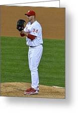 Doc Halladay Greeting Card by David Ziegler