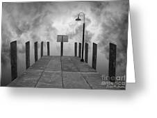 Dock And Clouds Greeting Card by David Gordon